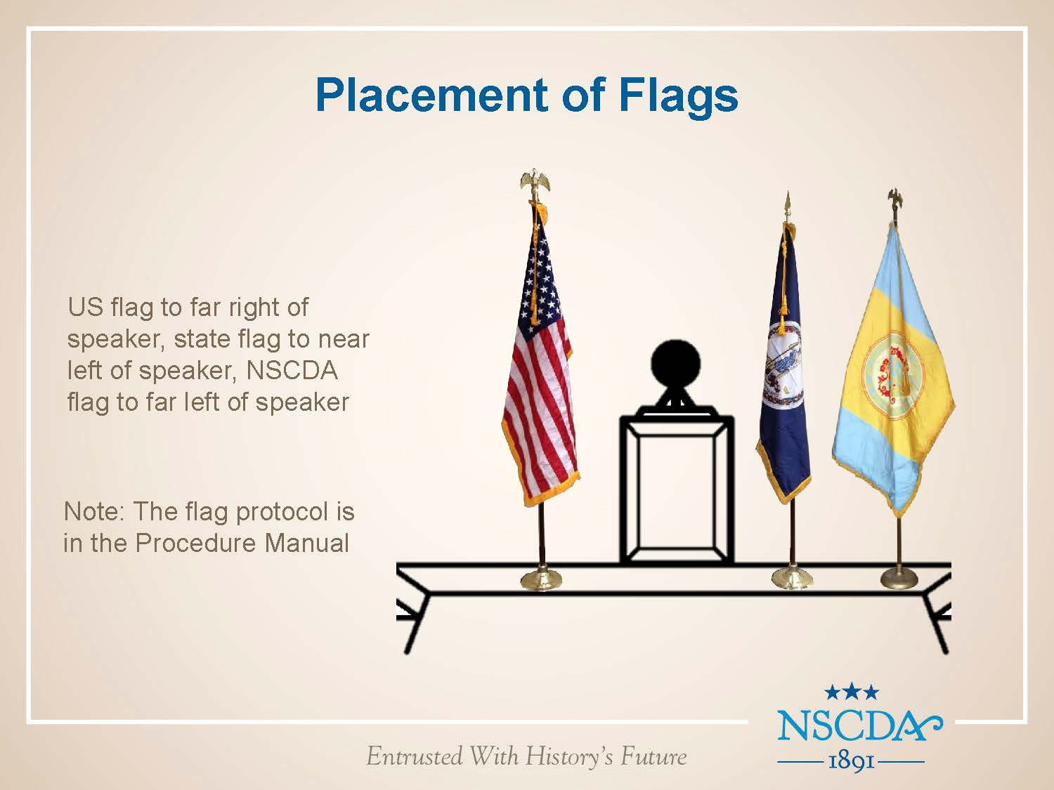 flag programs the national society of the colonial dames