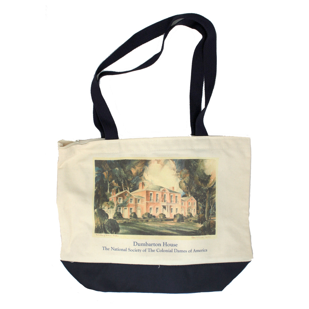 Dumbarton House Tote with zipper